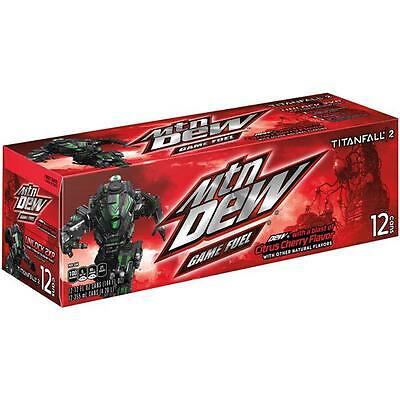 Original Pack of 12 Cans Mountain Dew Game Fuel American Soft Fizzy Drink Soda