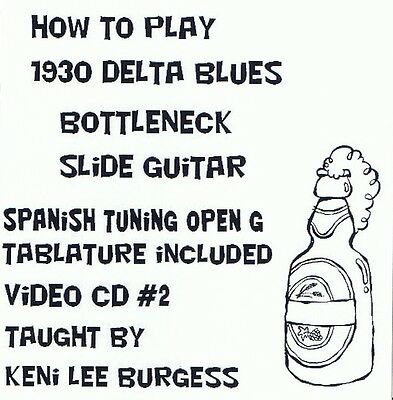 Bottleneck Slide Delta Blues Guitar CD 2 - video lessons - G Tuning Keni Lee