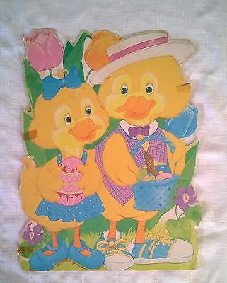 Vintage Easter Ducklings Large Size Diecut-Made by Eureka U.S.A.
