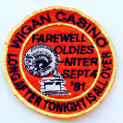 Wigan Casino Farewell Oldies Northern Soul Patch 1981- Original