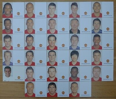2007-08 Unsigned Man Utd Club Cards - Individually Priced