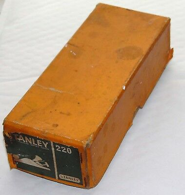 Vintage Stanley 220 Woodworking Plane ~ Original Box