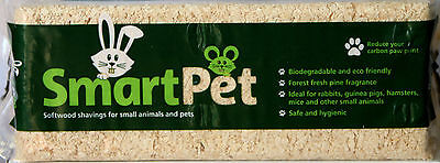 New Pet Wood Shavings in 3 sizes, warm pet bedding, biodegradeable by Smart Pet