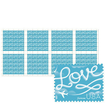 USPS New Love Skywriting Press Sheet with Die Cuts