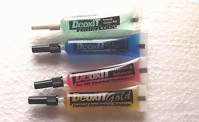 Caig Deoxit Squeeze Tube Essentials, D100, S100, F100, G100 Cleaner & Treatment