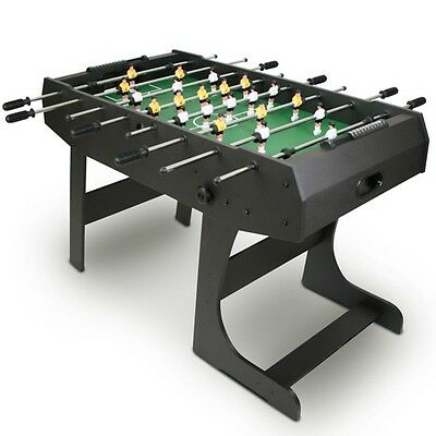 Black Folding Football Table Foosball Table Players Game Tournaments Table Folds