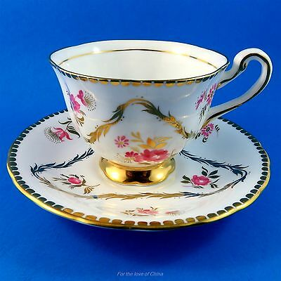 Pretty Floral Royal Chelsea Tea Cup and Saucer Set