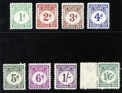 Gilbert & Ellice Is 1940 KGVI Postage Due set complete MNH. SG D1-D8. Sc J1-J8.