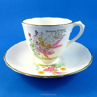 Fairies and Poems New Chelsea Demitasse Tea Cup and Saucer Set (some crazing)