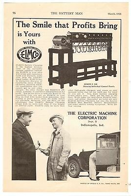 1928 Print Advertisement AD Electric Machine Corporation ELMCO Battery Chargers