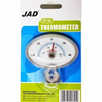 JAD Thermometer Analogue Aquarium Temperature Monitor Gauge Vivarium Glass BT-03