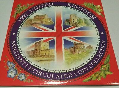 1997 United Kingdom Brilliant Uncirculated 9 coin collection set FREE POST UK
