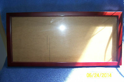"""Shadow Box Frame 20"""" x 9""""  Color: Mahogany (For Use With Your Collectibles)"""