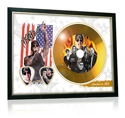 M Shadows Avenged Sevenfold Flag Style Signed Gold Disc Display