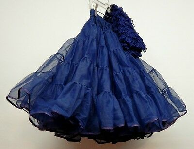 60 Yard Navy Nylon Square Dance Petticoat And Pettipants