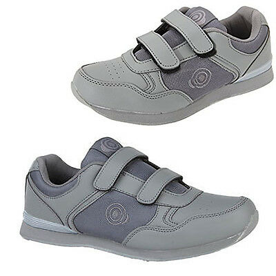 "Dek Womens ""Lady Skipper"" Bowling Shoes Grey Lawn Bowls Trainers Touch Fastening"