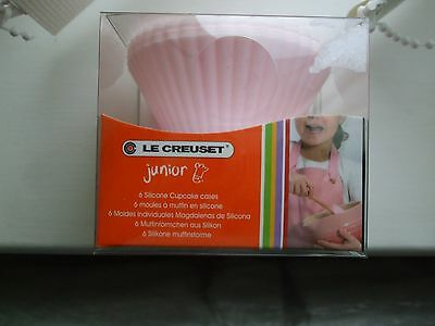 le creuset junior 6 pink silicone cupcake cases