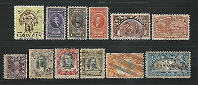 Costa Rica: 12 different stamps good value stamps. CT05