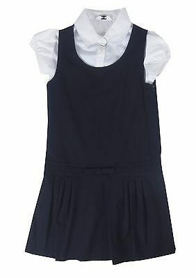 Girls School Pinafore Navy Uniform Dress with Blouse BACK TO SCHOOL Ex BHS