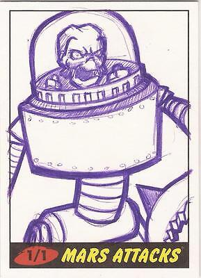 "Mars Attacks Heritage - ""Little House"" Sketch Card"