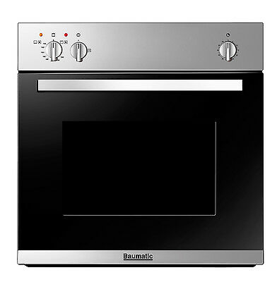 BRAND NEW Baumatic BO610.5SS Built-in Single GAS Single Oven & GAS Grill
