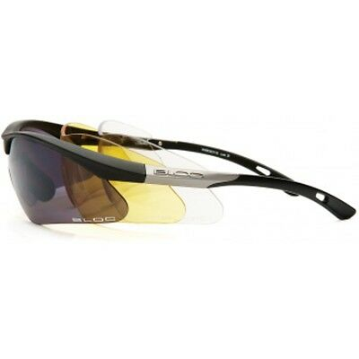 Bloc Eyewear Shadow Black Sunglasses (3 Interchangeable Lens)