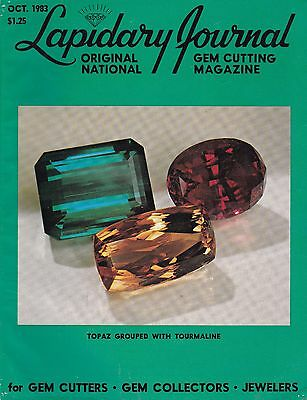 Lapidary Journal October 1983 - for Gem Cutters, Gem Collectors, Jewelers