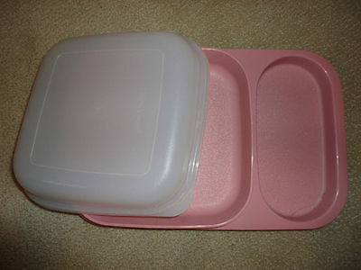Tupperware Covered Container Plate-New