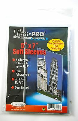 "Ultra-Pro Soft Sleeves, 5"" x 7"" 100 pack"