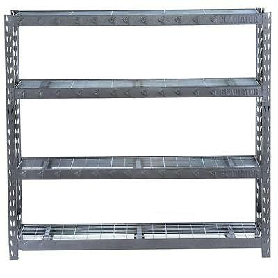 "Gladiator 73"" x 77"" x 24"" 4-Shelf Welded Steel Garage Shelving Unit"