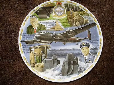 Avro Lancaster  LEGENDS OF THE AIR Royal Worcester Plate. Cert Ltd Ed'n of 2000
