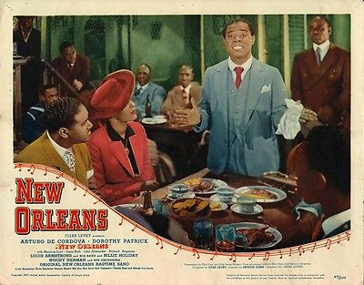 BILLIE HOLIDAY / NEW ORLEANS (1947) Set of 2 lobby cards ft. Holiday / rare!