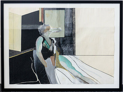 "Hans Nyga, Gouache,""Marilyn Monroe"" POP ART BRITISH STYLE,  F. Bacon, Hockney"
