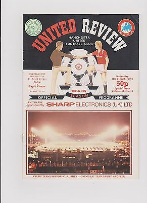 Celtic v Rapid Vienna 1984/85 Cup Winners Cup at Old Trafford