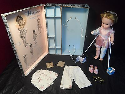 """Vintage Dee & Cee CDN Marybel 15""""Doll The Doll that Gets Well """"AS IS"""""""
