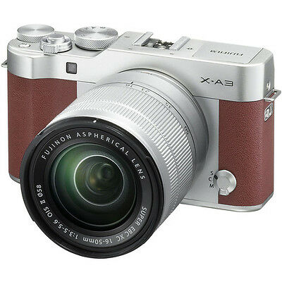 Fujifilm X-A3 Mirrorless Digital Camera - Brown with 16-50mm Lens