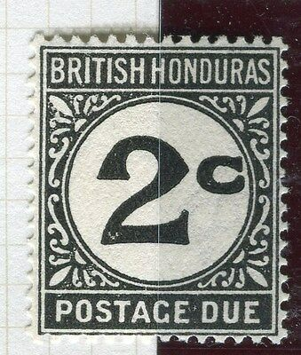 BRITISH HONDURAS;  1923-64 early Postage due issue Mint hinged 2c. value D2.