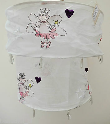 Reduced! Girls Bedroom Fairy White 2 Tier Light Lampshade Ceiling Pendant Shade