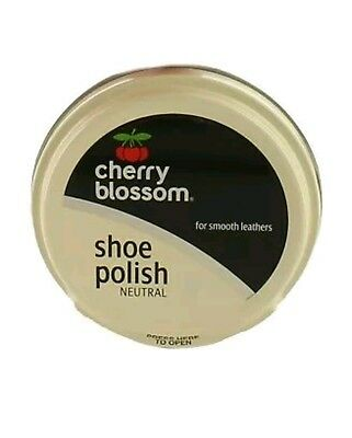 1 Tin Cherry Blossom Shoe Polish *NEUTRAL* 50ml For Smooth Leathers UK cheapest