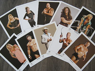 WWE Promo Photo 8x10 LOT #1 Michelle McCool Guerrero Torrie Willson Big Show WWF