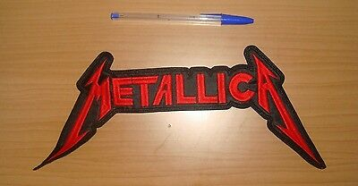 METALLICA - LARGE LOGO Embroidered BACK PATCH