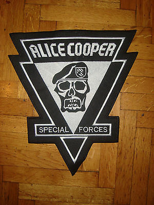 ALICE COOPER - SPECIAL FORCES LARGE LOGO Embroidered BACK PATCH