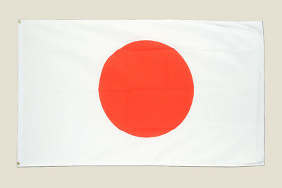 Japan 3x5 Flag White Red Polyester 2 Brass Grommets Asian Japanese Country