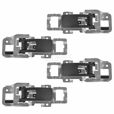 OEM Door Handle Interior Inside Black Front Rear LH RH Kit Set of 4 for Chevy