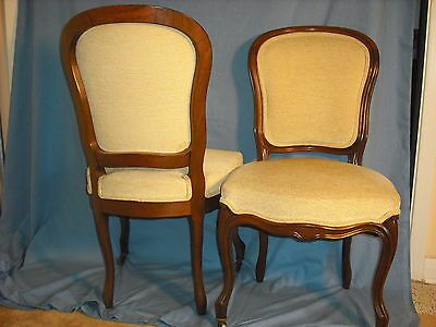 Pair Victorian Rosewood Louis XV revival side chairs