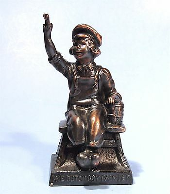 The Dutch Boy Painter Vintage Metal Advertising Character Figurine Paperweight