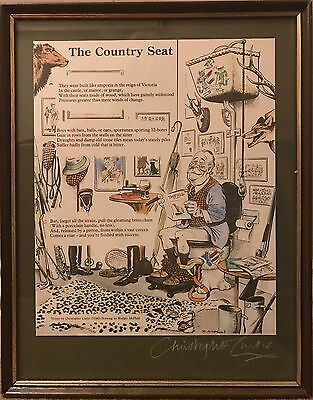 Coloured Print After McPhail 'The Country Seat' Verse By Christopher Curtis