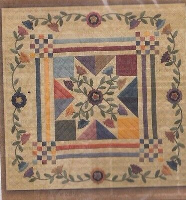 Star of Yesterday - wool applique and pieced wall quilt PATTERN