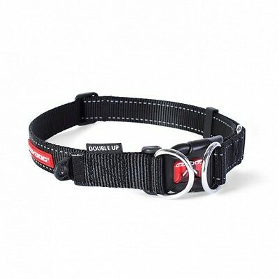 EZYDOG - Double Up Dog Collar Black Large 39-59cm - Free Delivery