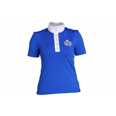Tournament blouse/Competition shirt Fairplay DIANA with Rhinestone ROYAL blue